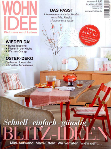 WOHN IDEE, GERMANY/april 2014